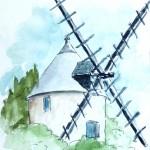Ile d'Yeu - Moulin dans la campagne
