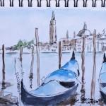 Balade Venise  Les gondoles