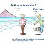 Pétanque au Mont-st-Michel