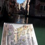 Peintre en plein air à Venise 4