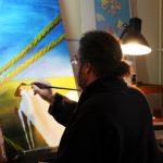 Peintre en atelier 2