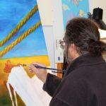 Peintre en atelier 4
