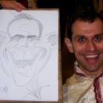 Caricature rapide crayon